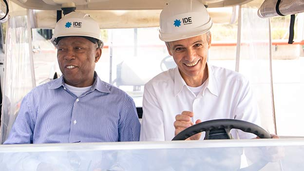 sylvester-turner toured IDE's Sorek Desalination